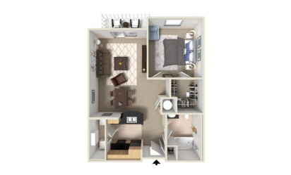 Aster 1 bedroom 1 bath 851 square feet