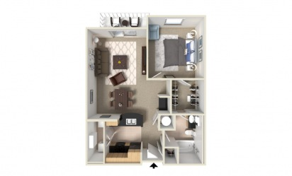 Azalea 1 bedroom 1 bath 851
