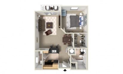 Balsam 1 bedroom 1 bath 920 square feet