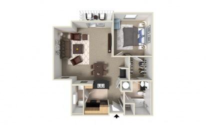 Blue Bonnet 1 bedroom 1 bath 920 square feet