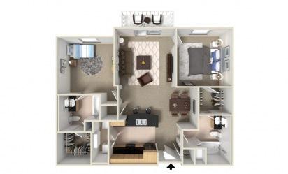 Bradford 2 bedroom 2 bath 1148 square feet