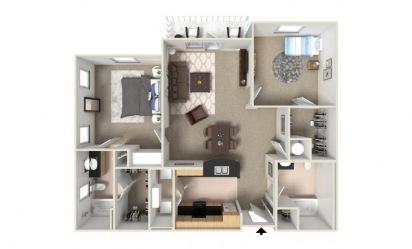 Briar 2 bedroom 2 bath 1249 square feet